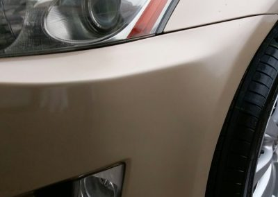 Image of a repaired bumper scuff