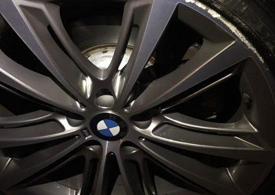 Photo of BMW diamond cut alloy wheel that requires a rim repair