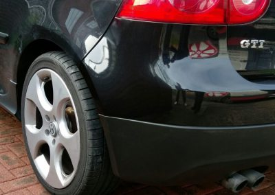 Image of a repaired bumper scratch