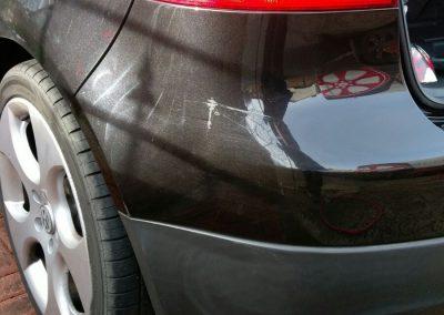 Image of a car requiring a car paint repair