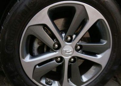 Image of a repaired Hyundai diamond cut wheel
