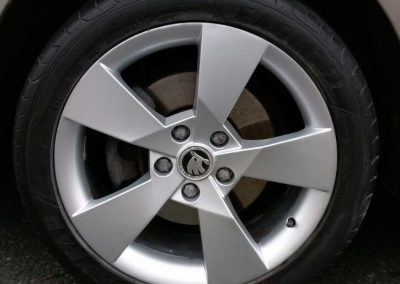 Image of a repaired alloy wheel
