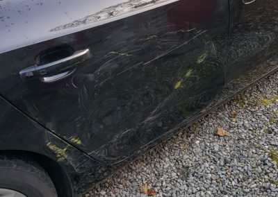 Audi Door and Quarter Panel Damage Image