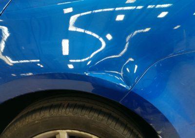 Quarter Panel Dent Repair Before Image